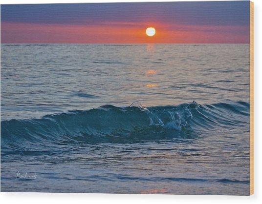 Crystal Blue Waters At Sunset In Treasure Island Florida 3 Wood Print