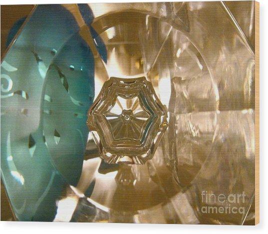 Crystal Glass Abstract Wood Print
