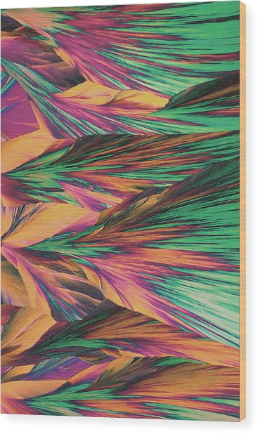 Crystal Micro Structure Wood Print by John Foxx