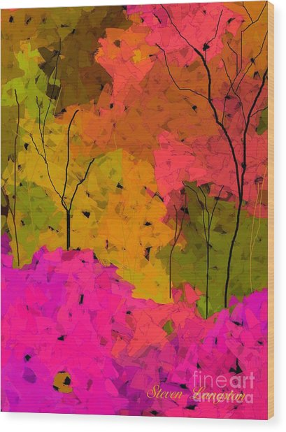 Crystal Spring Wood Print