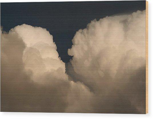 Cumulus Clashers Wood Print