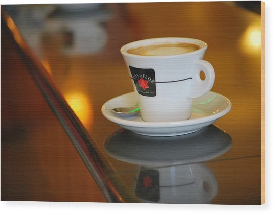 Cup Of Italy Wood Print