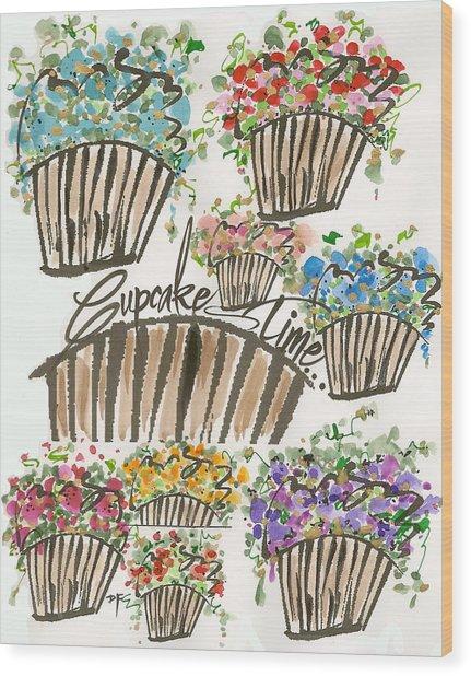 Cupcake Time Today Wood Print