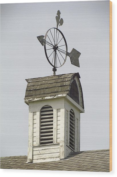 Cupola At Dahmen Barn Wood Print by Tony and Kristi Middleton