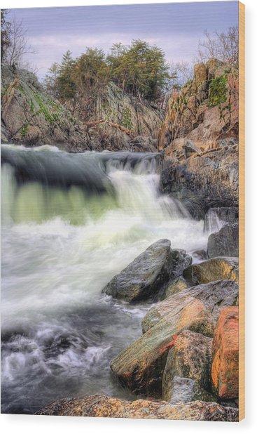 Cutting Through The Rock Wood Print by JC Findley