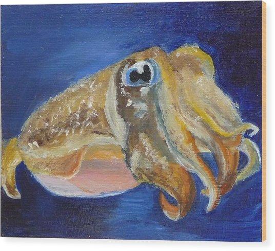 Cuttle Fish Wood Print