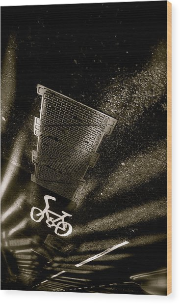 Cycling Shades Wood Print by Jez C Self