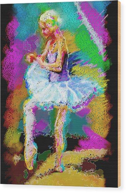 Cynthia Ballet Self Portrait Wood Print by Cynthia Sorensen