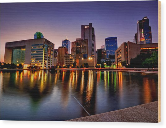 Dallas City Hall Plaza Wood Print