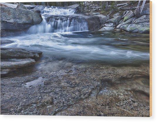 Dana Fork Cascades Wood Print
