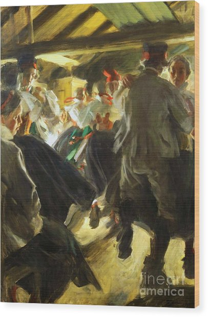 Dance In Gopsmor Wood Print by Pg Reproductions