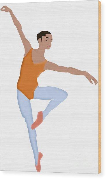 Dancer Wood Print by Melissa Stinson-Borg