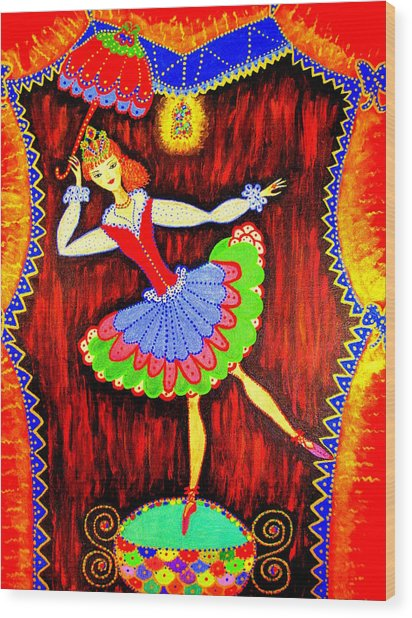 Dancing Doll Wood Print