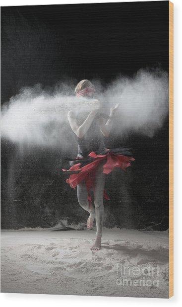 Dancing In Flour Series Wood Print