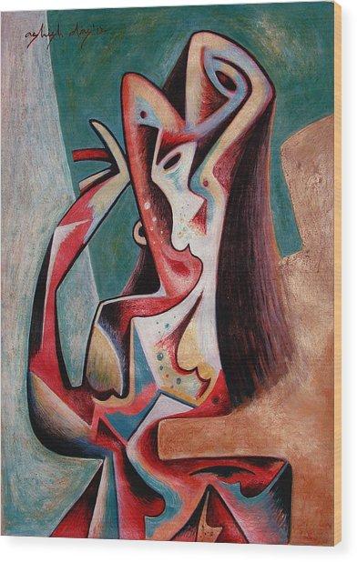 Dancing Woman Wood Print by Ashish Das