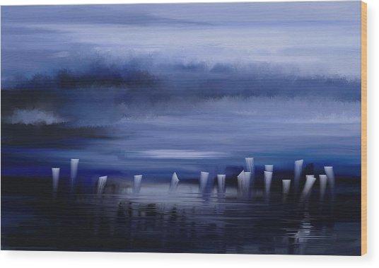 Dark Mist Wood Print
