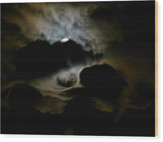 Dark Moon Mystery Wood Print