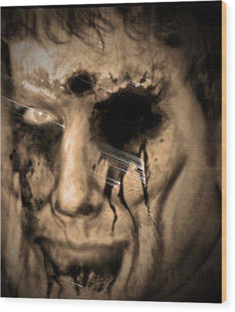 Dark Portrait Wood Print by Beto Machado