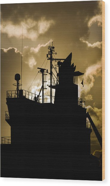 Dark Superstructure Wood Print