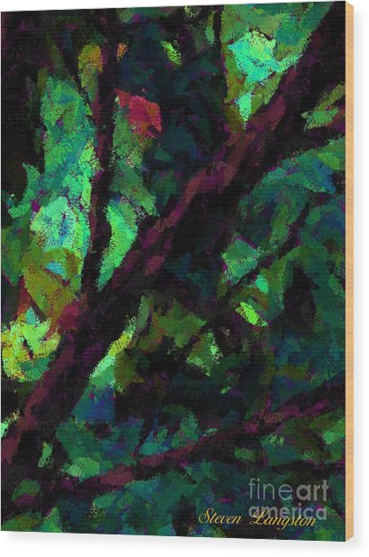 Dash Of Pink Wood Print