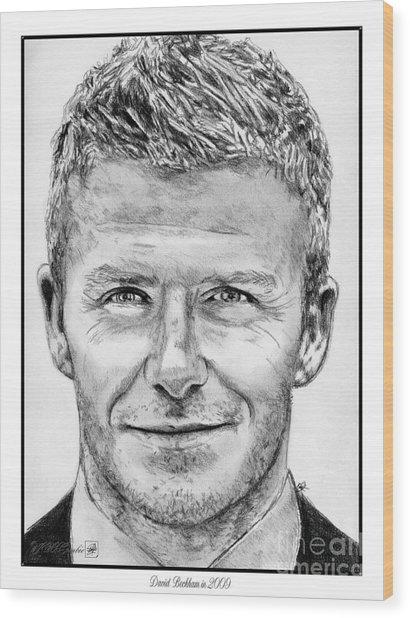David Beckham In 2009 Wood Print