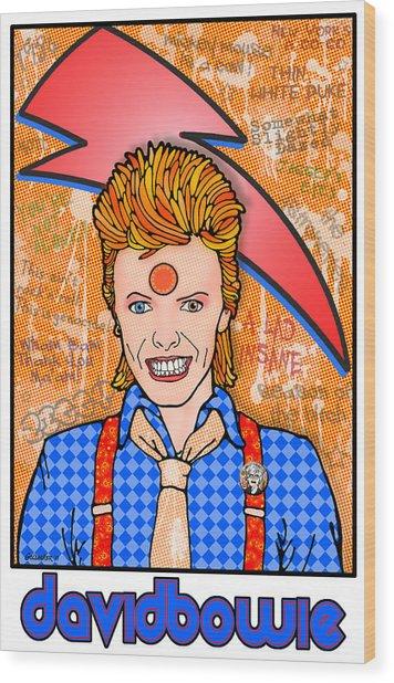 David Bowie Wood Print by John Goldacker