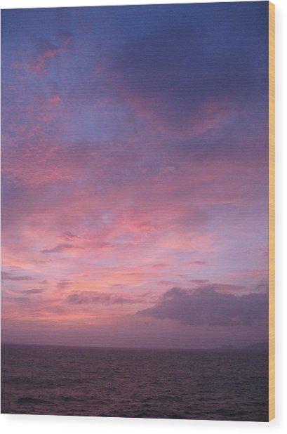 Dawn At The Isle Of Yakushima Wood Print by Vladimir Abroskin