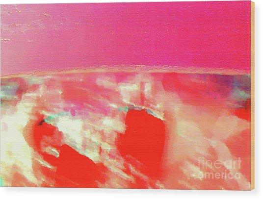 Dawn Of A Big Pink Wood Print