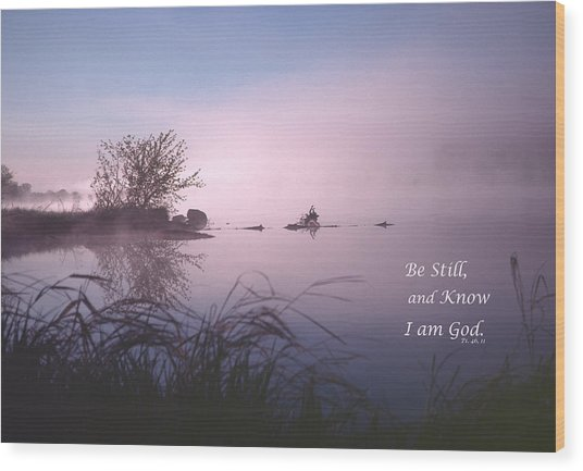 Dawn On The Chippewa River Wood Print