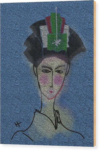 Day Dream Of A Geisha Wood Print by Hayrettin Karaerkek