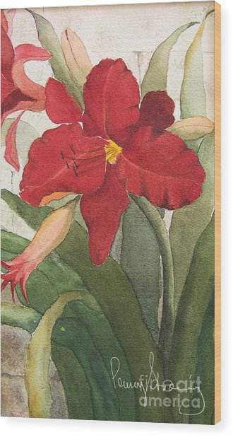 Day Lillies Wood Print