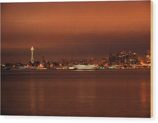 Daybreak Ferry Wood Print
