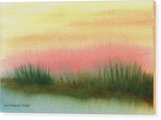 Daybreak Wood Print by Jan Deswik