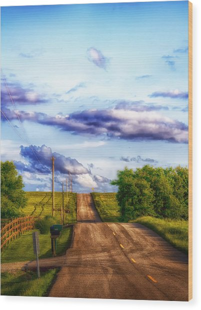 Daylight Fades In New Melle Wood Print by Bill Tiepelman