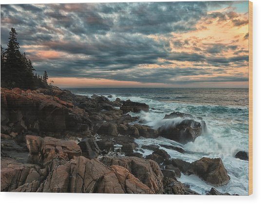 Day's End At Otter Point Wood Print