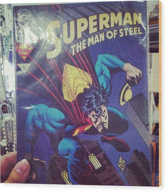 #dccomics #superman Wood Print