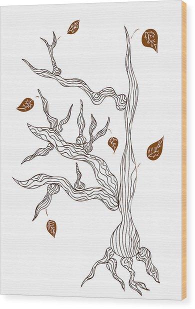 Dead Wood Wood Print by Frank Tschakert