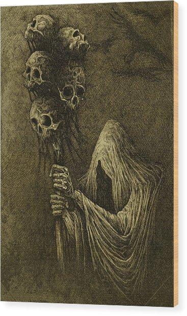 Death Wood Print by Maciej Kamuda