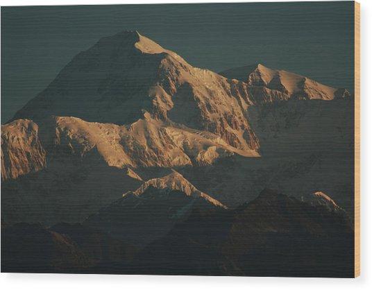 Denali Sunrise Wood Print