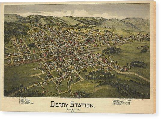 Derry Station Pennsylvania Wood Print by Donna Leach
