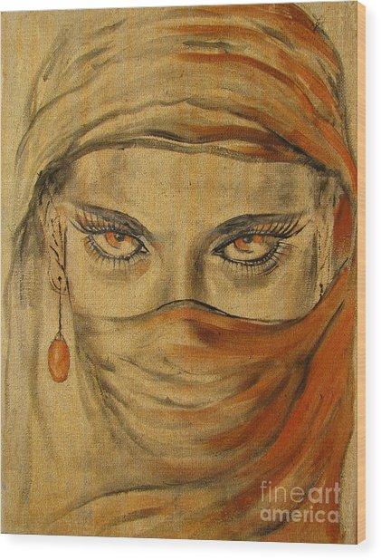 Desert Amber Wood Print