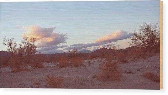 Desert And Sky Wood Print