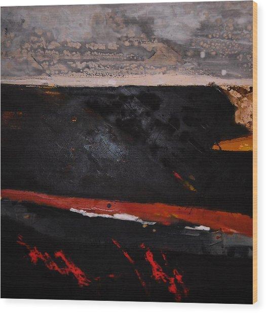 Desert Landscape Wood Print by Mohamed KHASSIF
