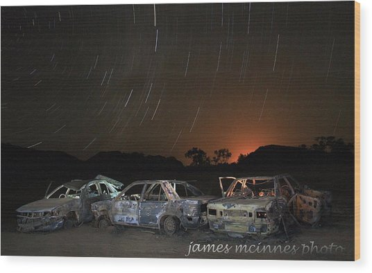 Desert Nights Wood Print by James Mcinnes