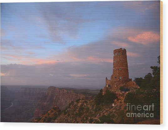 Desert View Watchtower Wood Print