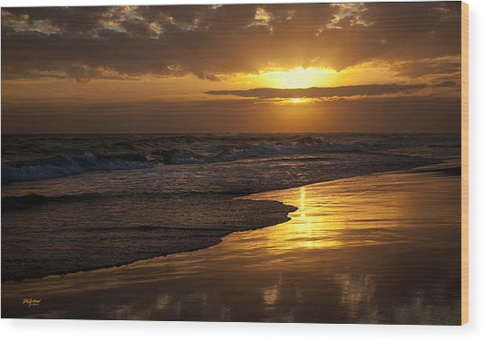 Destin Sunset  Wood Print