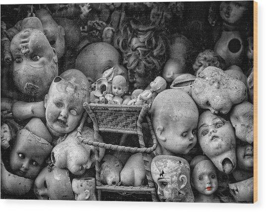 Devil Dolls Wood Print by Michael Avory