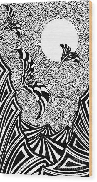 Devil Night Wood Print