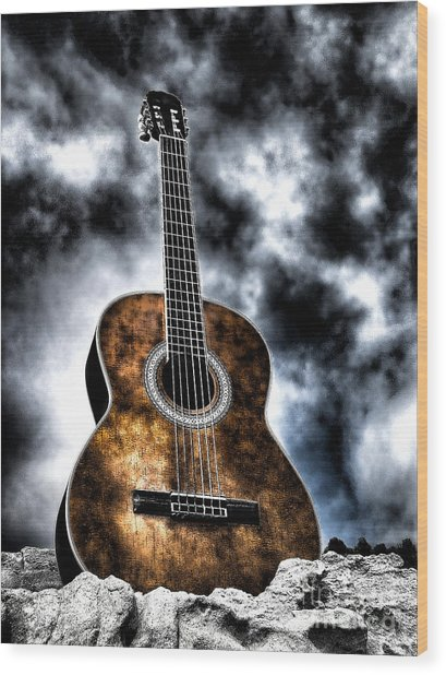 Devils Acoustic Wood Print