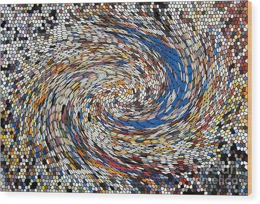 Digital Directional Chaos Wood Print by Robert Haigh